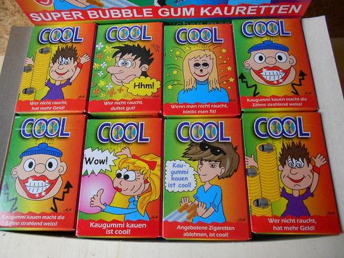 5 ANTI Rauchen COOL ✰ UNCOOL ✰ Kaugummi-Sticks